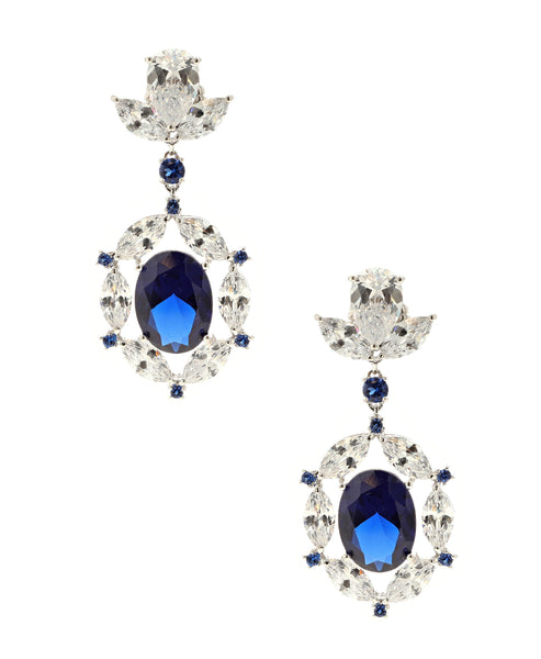 Zoom view for CZ Jeweled Statement Earrings