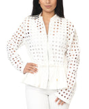 Cutout Peplum Jacket