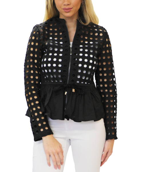 Zoom view for Cutout Peplum Jacket