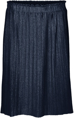 METALLIC MIDI PLEATED SKIRT
