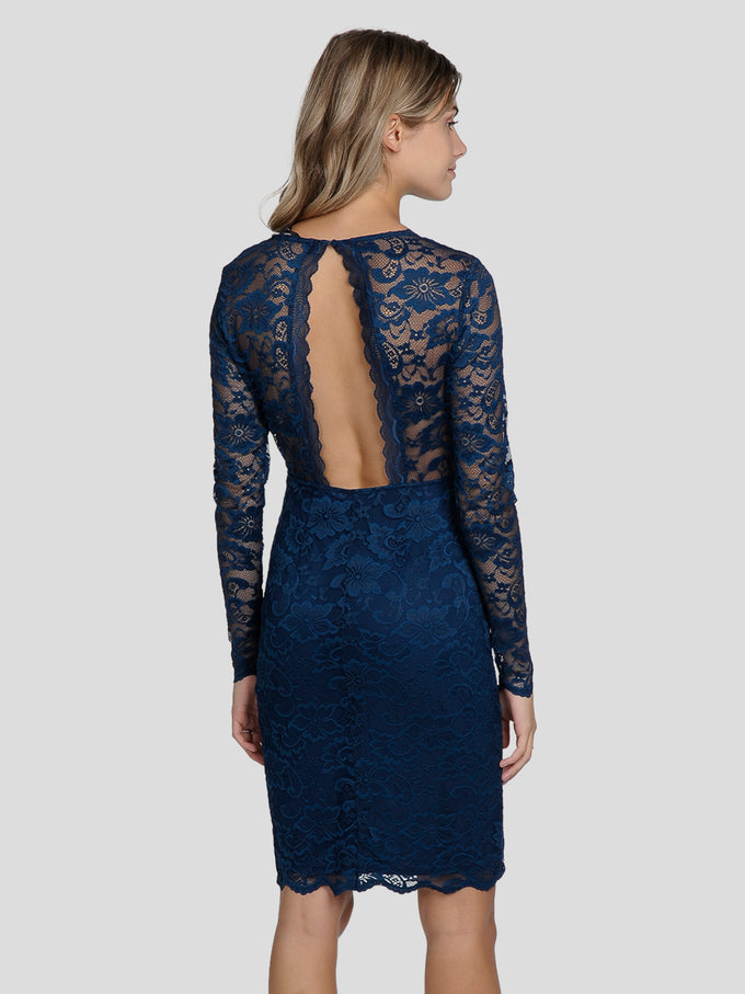 LONG SLEEVE LACE DRESS GIBRALTAR SEA