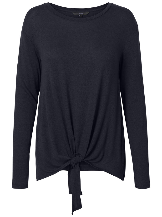 LONG SLEEVE T-SHIRT WITH A KNOT DETAIL NIGHT SKY