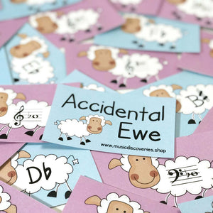 Accidental Ewe is a fun activity for learning sharps, flats and enharmonic equivalents.