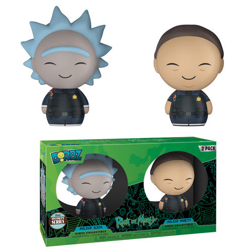 Police Rick and Morty 2 Pack - Funko Dorbz Specialty Series - JULY
