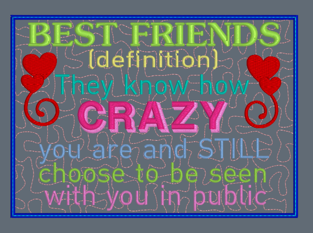 Best Friends Definition Mug Rug 5x7