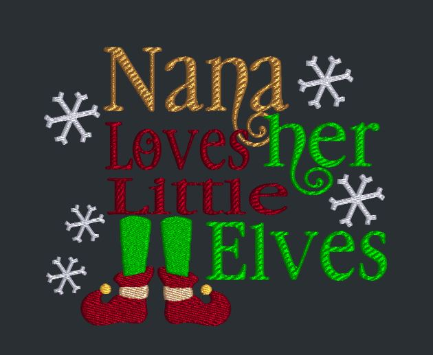Nana Loves Her Little Elves 5x7