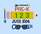 Pre-K Just Got Cooler Glasses  5x7