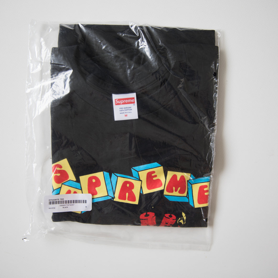 Supreme Dynamite Tee Black (Medium / NEW)