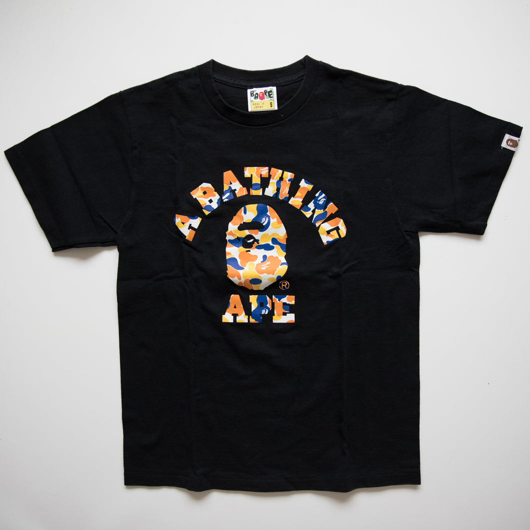 Bape Maebashi Camo College Tee (Small / USED)