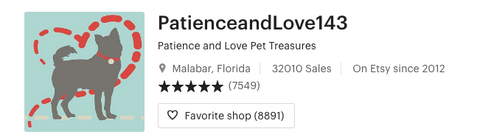 Shop banner for Patience and Love 143
