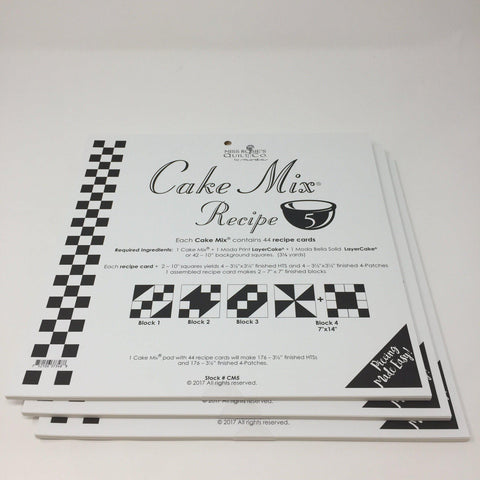 Cake Mix Recipe 5 by Moda- Each Recipe contains 44 Papers to make 88 Quilt Blocks Moda Cake Mix Recipe - Fabric Mouse