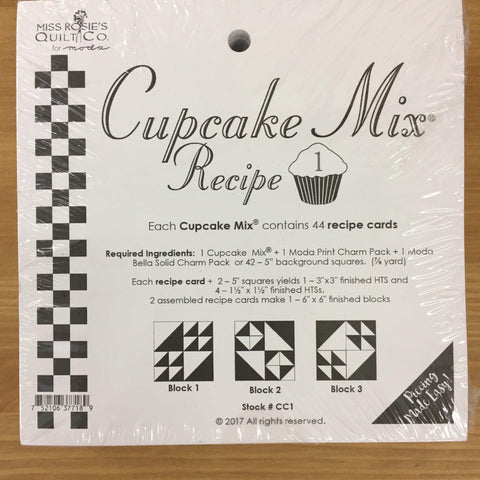 Cupcake Mix Recipe 1 Fabric Mouse  - Fabric Mouse