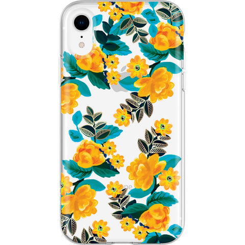 girly case for iphone xr with flower pattern from incipio