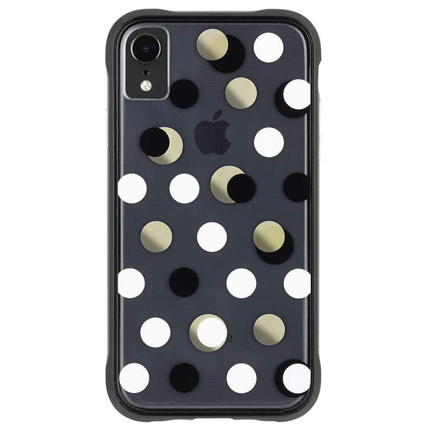 cute case for women with dots pattern for iphone xr.