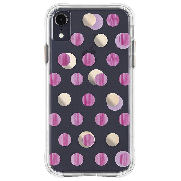 dots pattern case for women ausralia. iphone xr clear case.