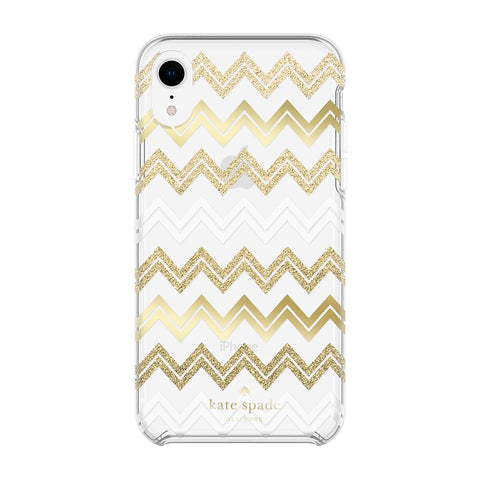 gold glitter case for iphone xr from kate spade. shop all cases collection from kate spade at syntricate.