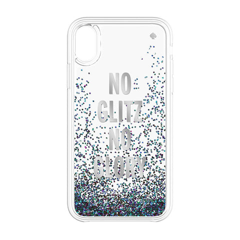 Shop Australia stock KATE SPADE NEW YORK LIQUID GLITTER CASE FOR IPHONE XR- NO GLITZ NO GLORY SILVER FOIL/MERMAID GLITTER with free shipping online. Shop Kate Spade New York collections with afterpay