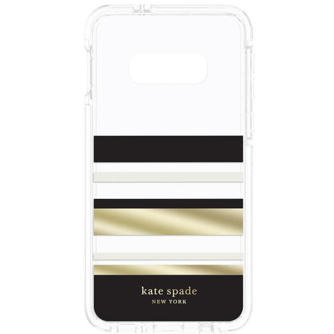 new samsung galaxy s10e clear case with stripe from katespade new york