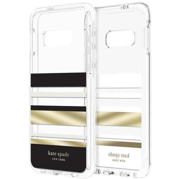 clear case with gold stripe from kate spade new york for samsung galaxy s10e