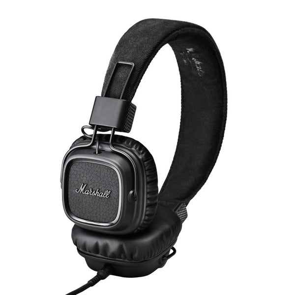 buy marshall major ii on-ear headphones pitch black australia