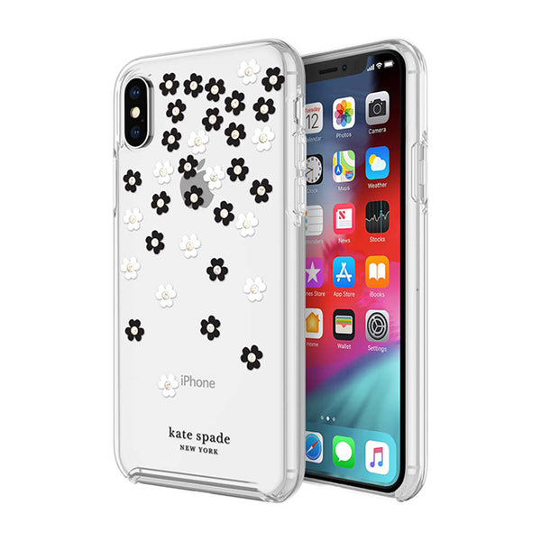 Clear Flower pattern case for new iphone xs & iphone x with free Australia shipping from Kate Spade