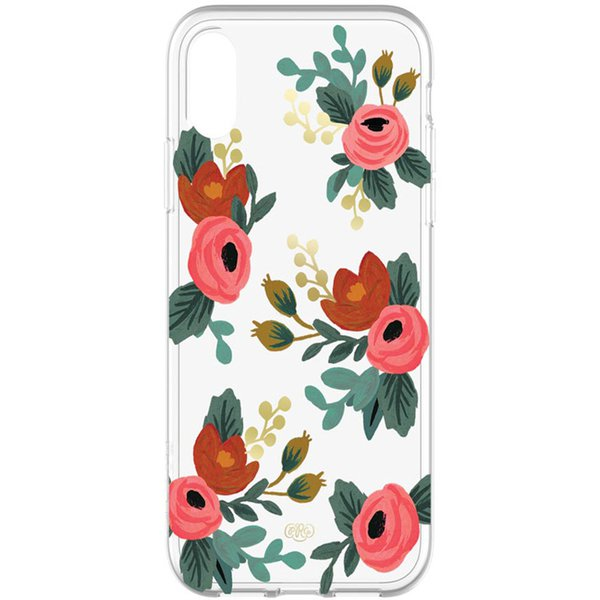 iphone xr case for women with flower pattern clear case from rifle paper co. buy online local Australia stock