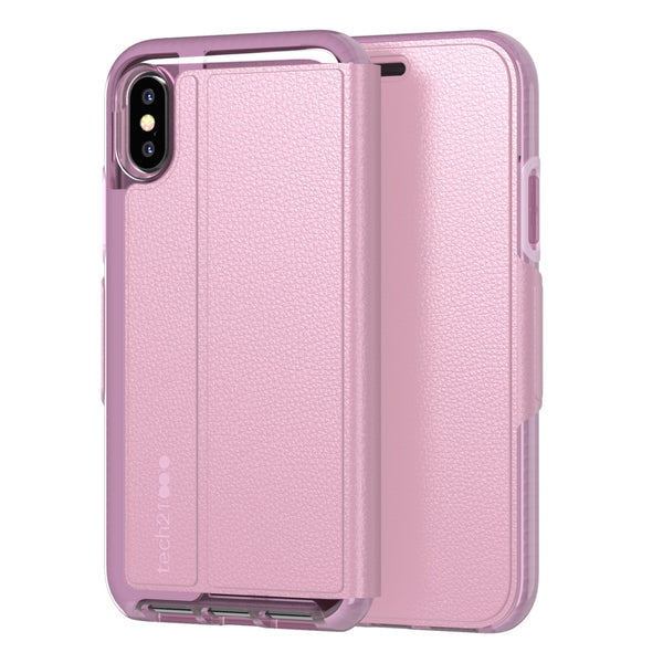 pink folio case for iphone x/xs from tech21 australia