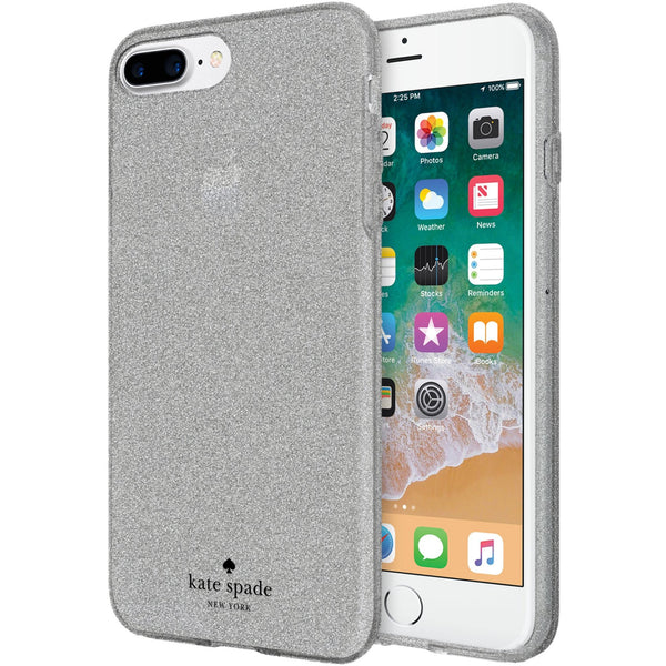 fancy glitter case from authorized distributor free express shipping australia for kate spade new york flexible glitter case for iphone 8 plus/7 plus - silver.