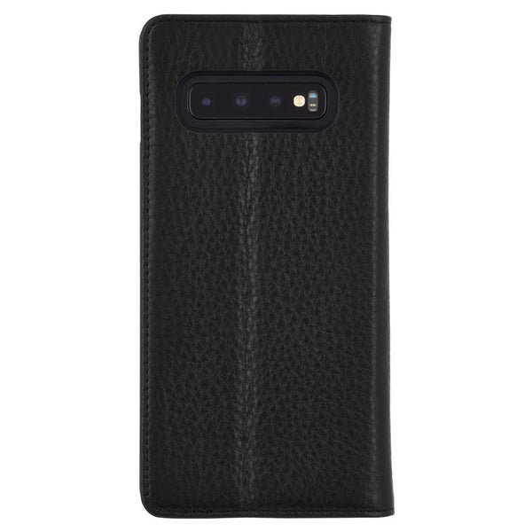 buy online leather folio case for new samsung galaxy s10+