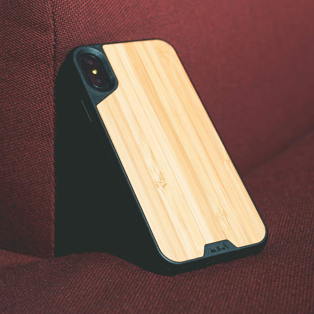 stylish Bamboo natural look case for iPhone Xs & iPhone X from mous Australia Australia Stock