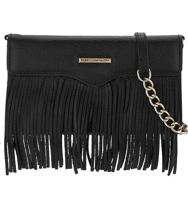 Shop Australia stock Rebecca Minkoff Universal Fringe Tech Leather Crossbody - Black Pebble with free shipping online. Shop Rebecca Minkoff collections with afterpay