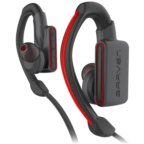 place to buy headset braven flye sport power bluetooth earbuds - grey/red. Authorized distributor free shipping australia.