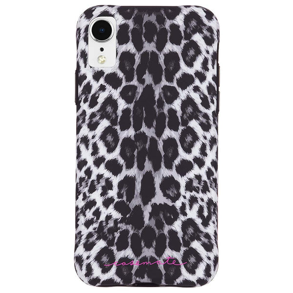 iphone xr case for women australia. leopard pattern grey colour.