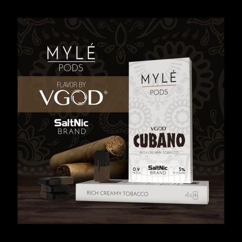 SALTNIC VGOD CUBANO MYLE REPLACEMENT POD 4-PACK
