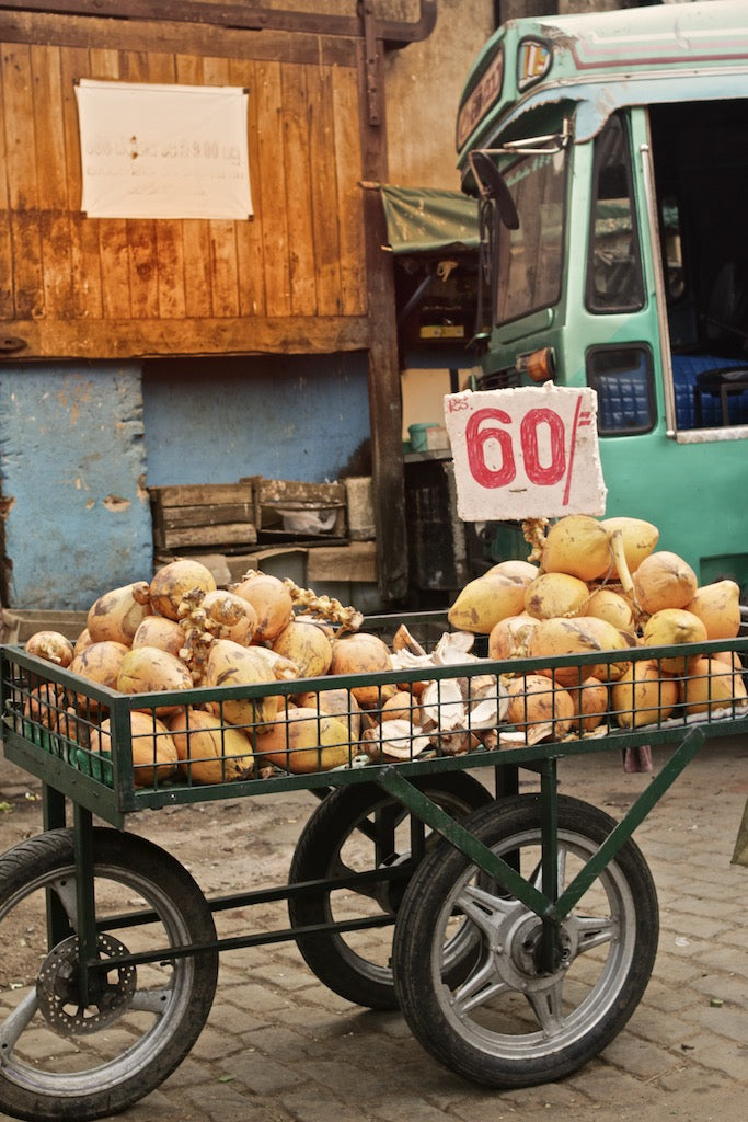 Coconut Cart, Colombo Sri Lanka - Travel wall art prints by Edwin Datoc Gallery