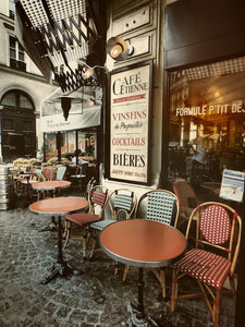 Cafe Etienne, Paris France - Travel wall art prints by Edwin Datoc Gallery