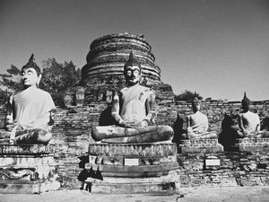 Buddha Statues, Ayutthaya Thailand - Travel wall art prints by Edwin Datoc Gallery