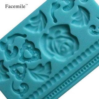 3D Floral and Leaf Chocolate Mold