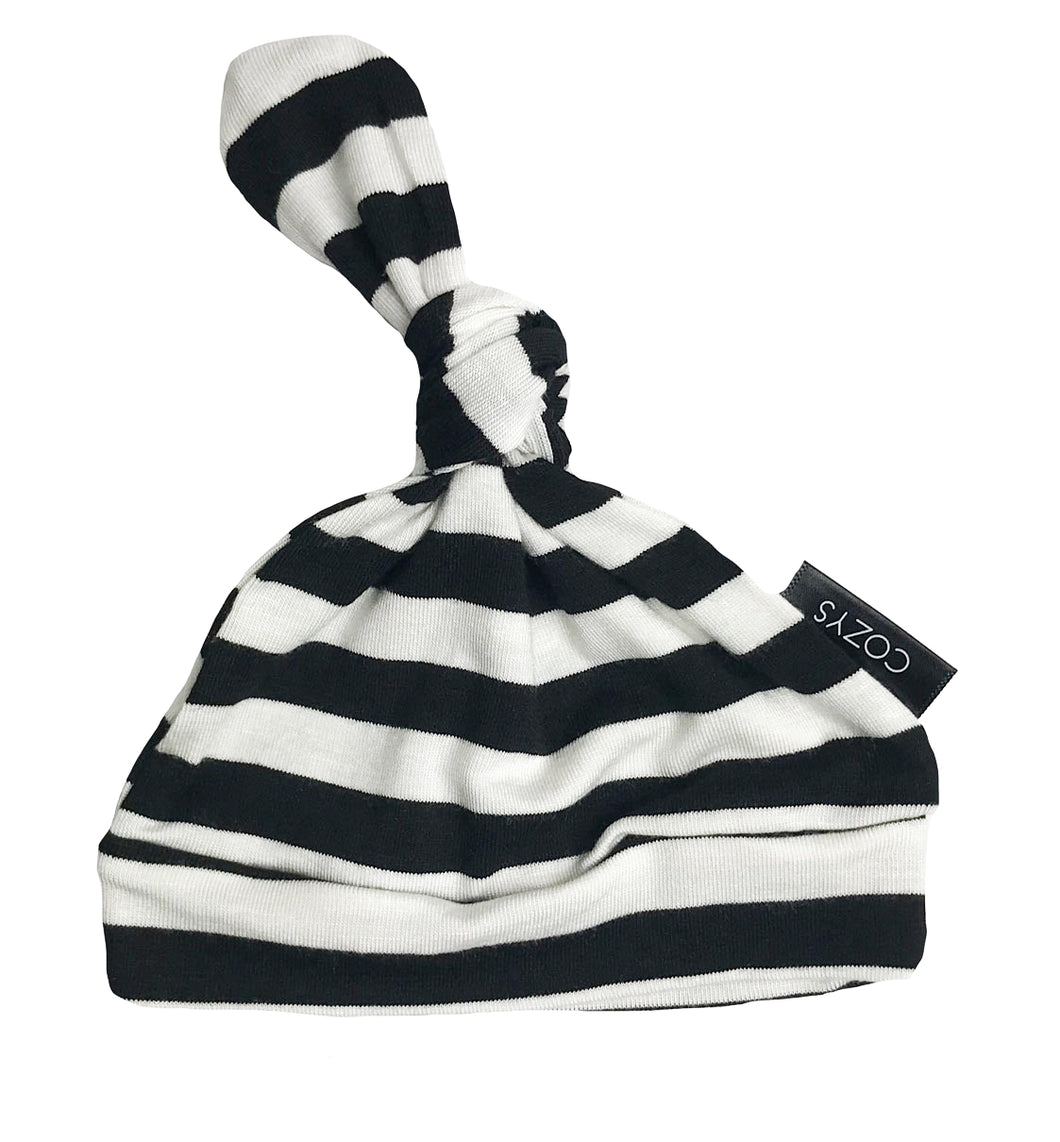 BLACK + WHITE THICK STRIPE