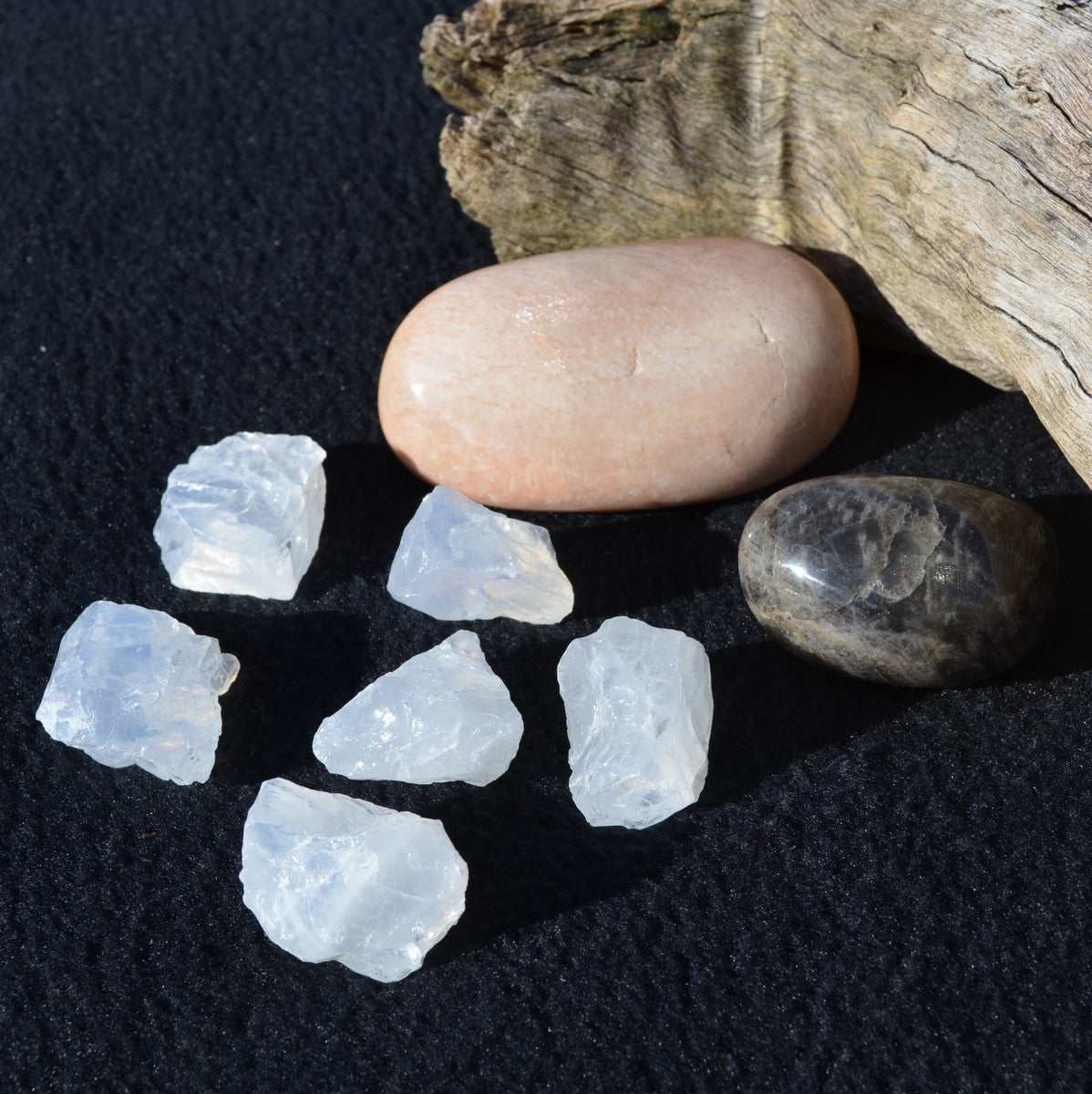 Moonstone Lovers Bundle Black Moonstone Peach Moonstone - Buy Now at Illiom Crystals - Now with Afterpay