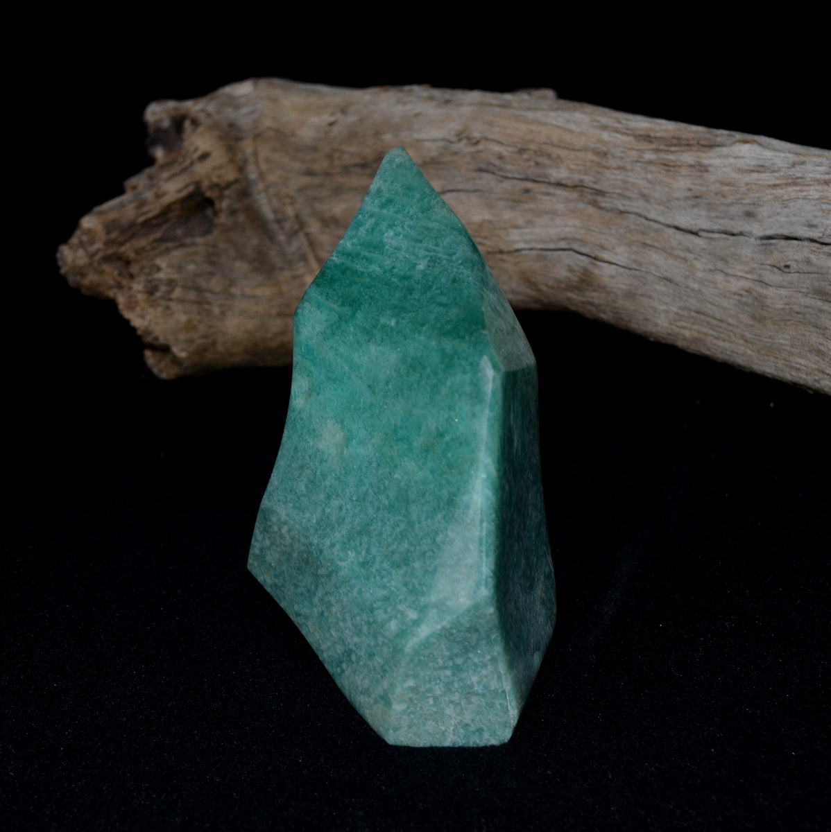 Amazonite Large Flame Freeform - Inspiring Soothing Abundance - Shop now at Illiom Crystals - Afterpay Available