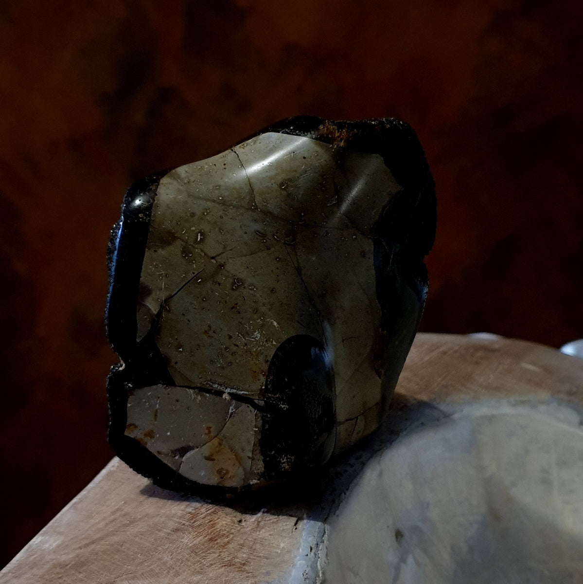 Septarian Septereye Black Drusy Freeform - Now at Illiom Crystals - Afterpay Available