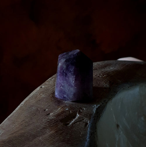 Amethyst with Smoky Polished Point Madagascar A (T53-8A)