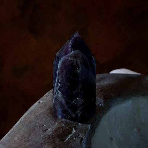 Amethyst with Smoky Polished Point Madagascar B (T53-8B)