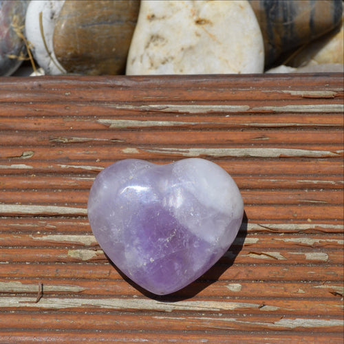 Amethyst Gemstone Heart (T58-14B)