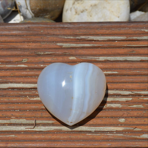 Agate Gemstone Puffy Heart Madagascar (T58-14H)