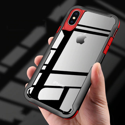 iPhone Case - Hybrid PC+TPU Transparent Case for iPhone X 8 7 Plus