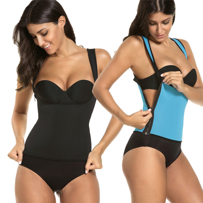 Tops - Front or Side Zipper Vest Sweat Waist Shaper