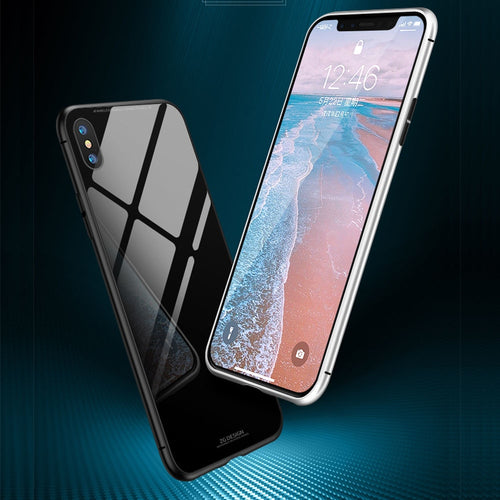 iPhone Case - Magnetic Adsorption Flip Tempered Glass Case For iPhone XS /XR /XS MAX