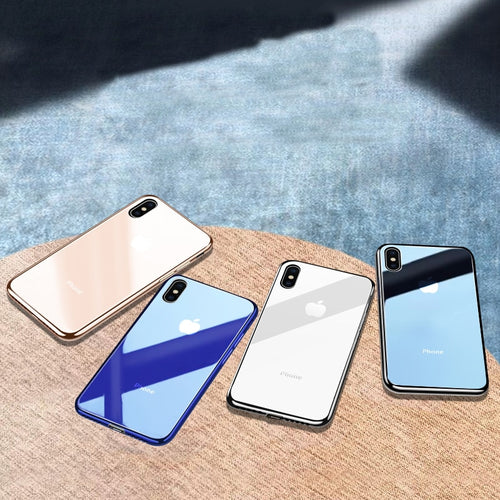 iPhone Case - Tempered Glass Case For Apple iPhone XS Max XR